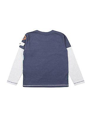 Cherokee Boys Doctor Sleeve Graphic Print T-Shirt