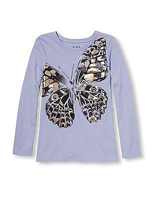 The Children's Place Girls Butterfly Print T-Shirt