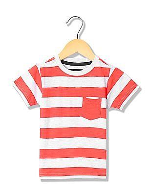 Cherokee Boys Short Sleeves Striped Shirt