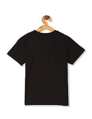 Cherokee Black Boys Crew Neck Cotton T-Shirt