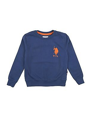 U.S. Polo Assn. Kids Boys Solid Sweatshirt