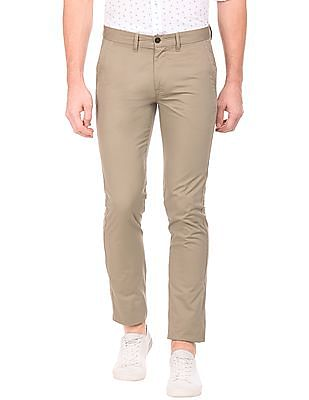 Arrow Sports Flat Front Slim Fit Trousers