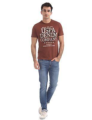 U.S. Polo Assn. Denim Co. Printed Front Crew Neck T-Shirt