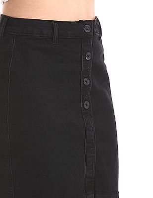 SUGR Black Denim Pencil Skirt