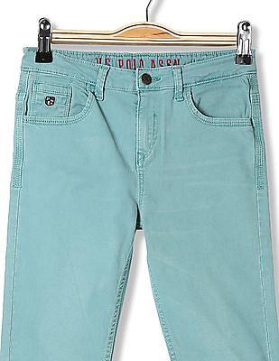 U.S. Polo Assn. Kids Boys Slim Fit Rinsed Jeans