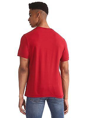 Aeropostale Red Brand Applique Crew Neck T-Shirt