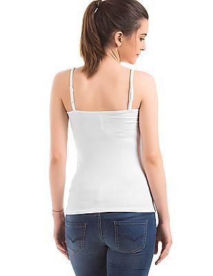 U.S. Polo Assn. Women Solid Cotton Lycra Camisole