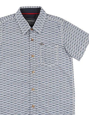 Cherokee Boys Short Sleeve Printed Shirt