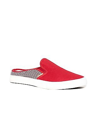 U.S. Polo Assn. Striped Panel Canvas Slip On Shoes