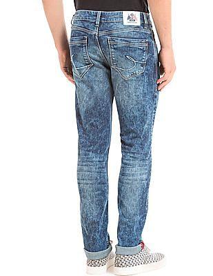 Izod Skinny Fit Acid Wash Jeans