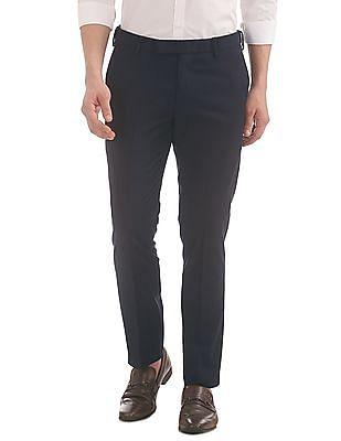 USPA Tailored Slim Fit Adjustable Waist Trousers