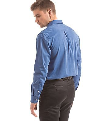 Arrow Blue regular-fit formal shirt