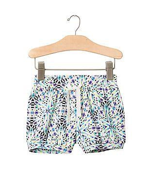 GAP Toddler Girl Multi Colour Jersey Bubble Shorts
