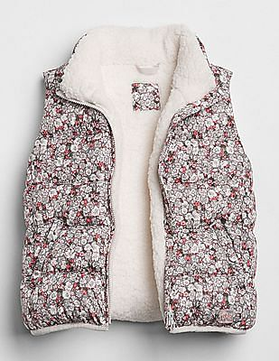 GAP Girls Coldcontrol Max Sherpa Puffer Vest