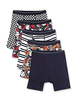 The Children's Place Assorted Boys Sport Boxer Briefs - Pack Of 5