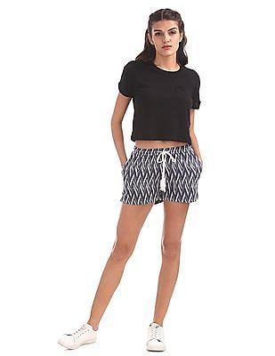 EdHardy Women Chevron Patterned Weave Shorts