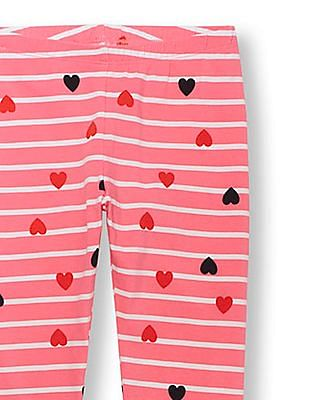 The Children's Place Girls Pink Printed Leggings