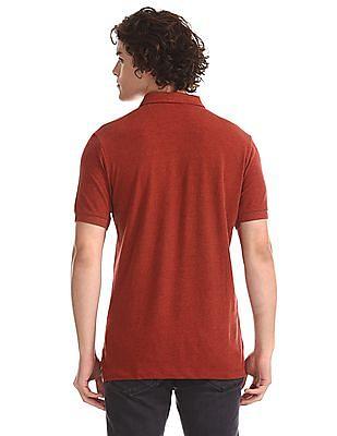 U.S. Polo Assn. Orange Heathered Pique Polo Shirt