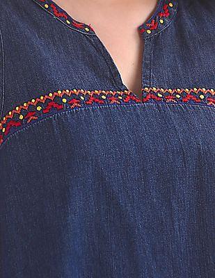GAP Embroidered Denim Top