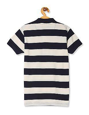 FM Boys Boys Regular Fit Striped Polo Shirt