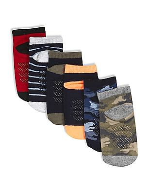 The Children's Place Assorted Toddler Boy Camo Ankle Socks - Pack Of 6