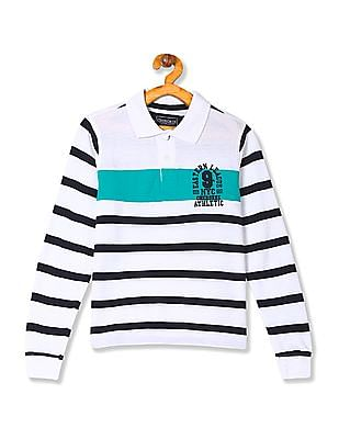 Cherokee Boys Striped Pique Polo Shirt