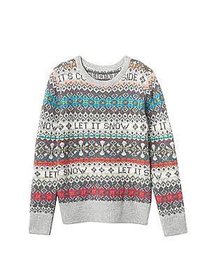 GAP Girls Let It Snow Sweater