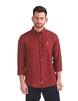 U.S. Polo Assn. Button Down Collar Irish Linen Shirt