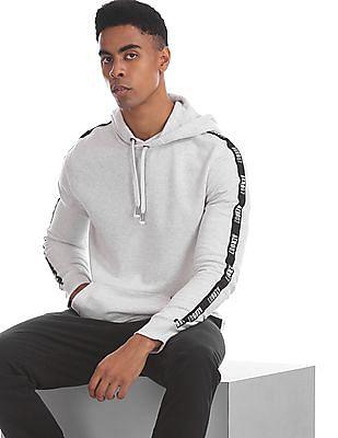 Aeropostale Grey Hooded Heathered Sweatshirt