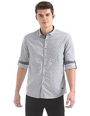 Cherokee Contemporary Fit Printed Shirt