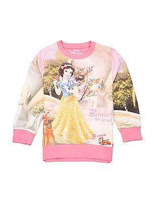 Colt Girls Snow Print Cotton T-Shirt