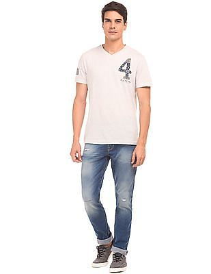 U.S. Polo Assn. Denim Co. Whiskered Lightly Distressed Jeans