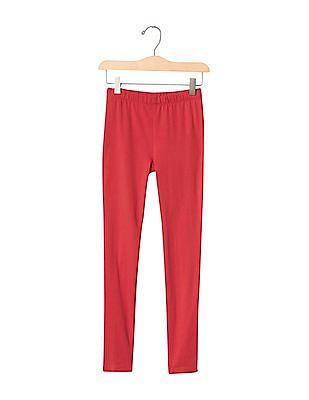 GAP Girls Red Jersey Leggings