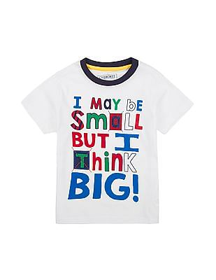 Cherokee Boys Round Neck Printed T-Shirt