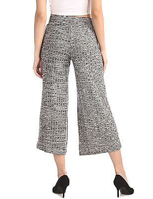 SUGR Grey Patterned Knit Culottes