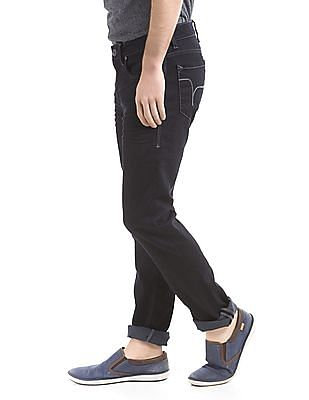 Flying Machine Slim Tapered Fit Crinkled Jeans