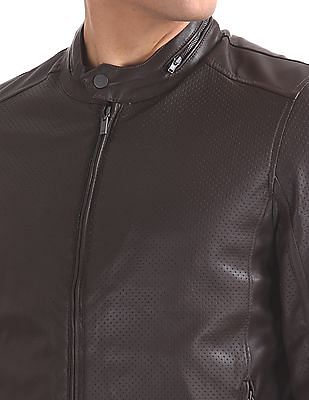 Arrow Sports Stand Collar Perforated Panel Jacket