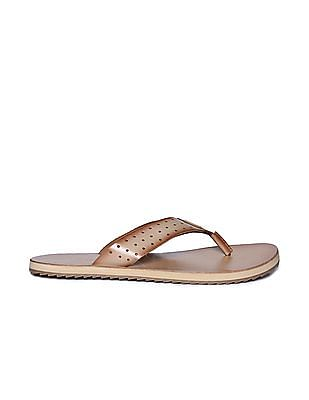 U.S. Polo Assn. Perforated Strap Leather Sandals