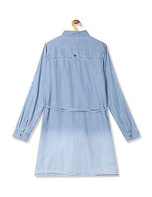 U.S. Polo Assn. Women Chambray Shirt Dress