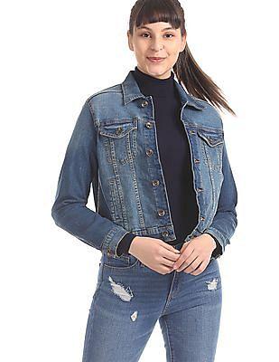 U.S. Polo Assn. Women Blue Washed Denim Jacket