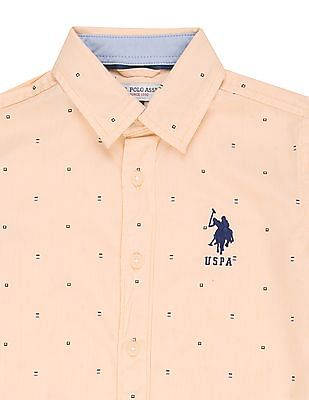 U.S. Polo Assn. Kids Boys Long Sleeve Printed Shirt