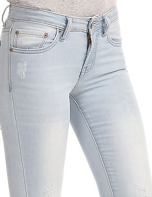 Aeropostale Jegging Fit Distressed Jeans