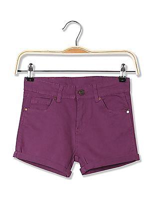 Cherokee Girls Slim Fit Solid Shorts