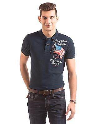 U.S. Polo Assn. Denim Co. Brand Embroidered Cotton Polo Shirt