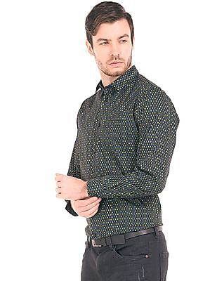 Arrow Newyork Printed Super Slim Fit Shirt