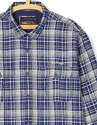 Ed Hardy Check Linen Cotton Shirt