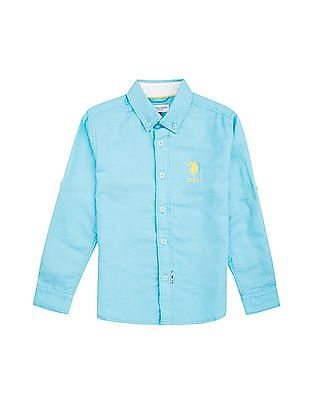 U.S. Polo Assn. Kids Boys Button Down Linen Shirt
