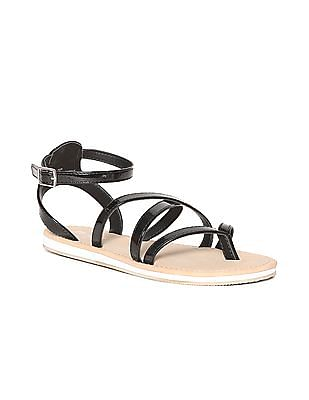 The Children's Place Girls Black Strappy Sandals
