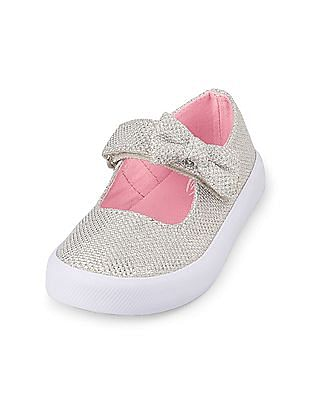 The Children's Place Toddler Girl Sparkle Bow Mary Jane Shoe