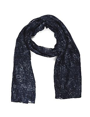 SUGR Blue Printed Stole